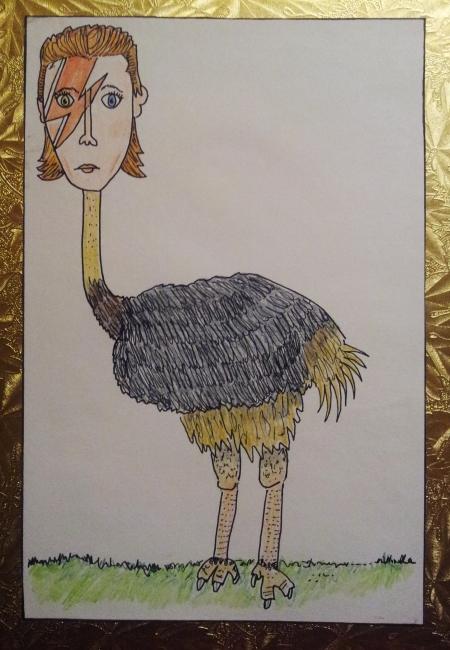 David Bowie ostrich
