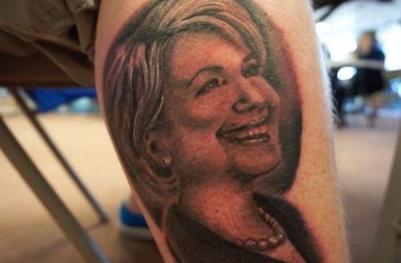 Hillary Clinton tattoo