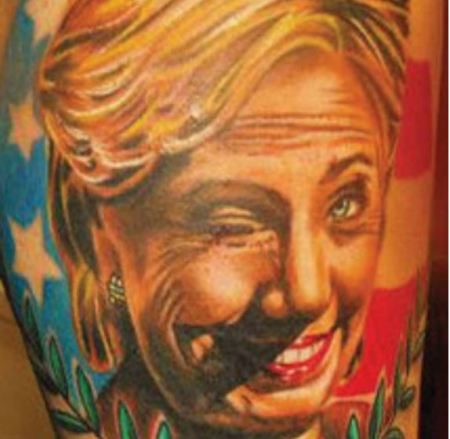 Hillary Clinton tattoo2