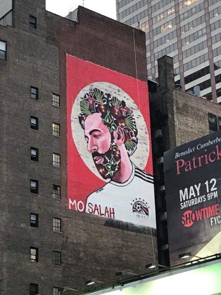 Mo Salah, New York street art